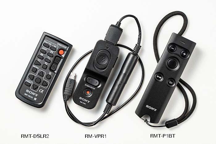 ソニー製カメラ用レリーズ三種類の写真